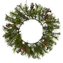 Buy John Lewis Pre-Lit Balmoral Berry Wreath Online at johnlewis.com