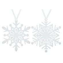 Buy John Lewis Snowdrift Metal Snowflakes Tree Decoration, Assorted Online at johnlewis.com