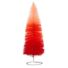 Buy John Lewis Ombre Christmas Tree Tabletop Decoration, Red Online at johnlewis.com