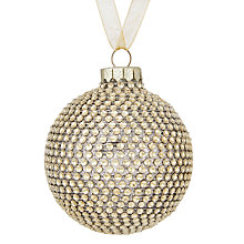 Buy John Lewis Boutique Glass Disco Bauble, Champagne Online at johnlewis.com