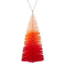 Buy John Lewis Ombre Christmas Tree Hanger, Red Online at johnlewis.com