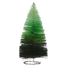 Buy John Lewis Ombre Small Tabletop Tree Decoration, Green Online at johnlewis.com