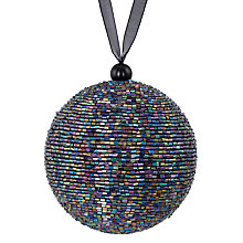 Buy John Lewis Boutique Smoke Beaded Bauble Online at johnlewis.com