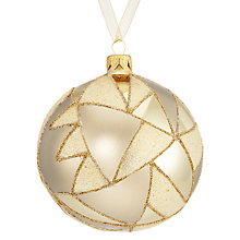 Buy John Lewis Boutique Glass Abstract Shard Bauble, Gold Online at johnlewis.com