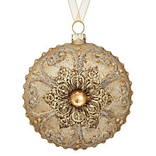 Buy John Lewis Enchantement Embellished Bauble, Champagne Gold Online at johnlewis.com