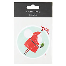 Buy John Lewis Christmas Characters Flitter Tags, Pack of 4 Online at johnlewis.com