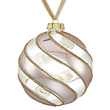 Buy John Lewis Enchantment Swirl Bauble, Clear And Champagne Online at johnlewis.com