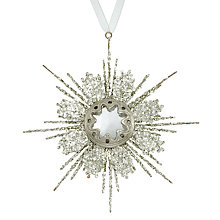 Buy John Lewis Enchantment Glitter Snowflake, Champagne Online at johnlewis.com