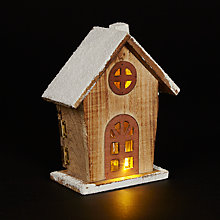 Buy John Lewis Natural Pre-lit Mini House Online at johnlewis.com