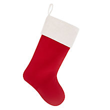 Buy John Lewis Classic Red Velvet Christmas Stocking Online at johnlewis.com