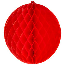 Buy Paper Joy Giant Honeycomb Bauble, Red Online at johnlewis.com