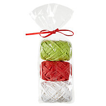 Buy John Lewis Raffia Ribbon, Pack of 3, Multi Colour Online at johnlewis.com