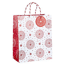 Buy John Lewis Starburst Gift Bag, Medium, Red Online at johnlewis.com