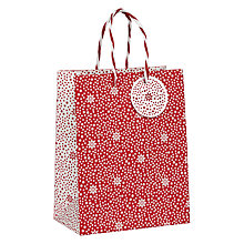 Buy John Lewis Starburst Gift Bag, Small, Red Online at johnlewis.com