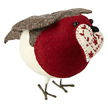 Buy Fiona Walker Felt Robin with Heart, Large Online at johnlewis.com