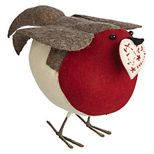 Buy Fiona Walker Felt Robin with Heart, XL Online at johnlewis.com