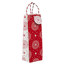 Buy John Lewis Starburst Gift Bag, Champagne, Red Online at johnlewis.com