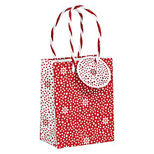 Buy John Lewis Starburst Gift Bag, Mini, Red Online at johnlewis.com