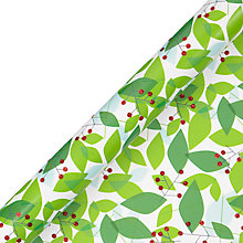 Buy John Lewis FSC Different Perspective Abstract Leaves Gift Wrap, 3m Online at johnlewis.com