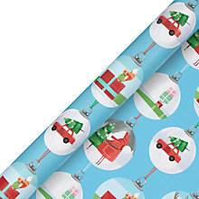 Buy John Lewis FSC Christmas Baubles Gift Wrap, 10m, Blue Online at johnlewis.com