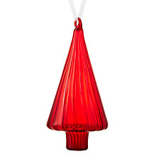 Buy John Lewis Different Perspective Geometric Tree Decoration, Red Online at johnlewis.com