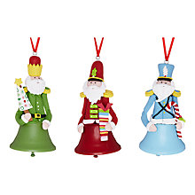 Buy John Lewis Claydough Bell Soldier Tree Decoration, Assorted Online at johnlewis.com