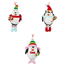 Buy John Lewis Claydough 3D Penguins Tree Decoration, Assorted Online at johnlewis.com