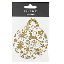Buy John Lewis Enchantment Snowflake Gift Tags, Pack of 4 Online at johnlewis.com