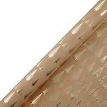 Buy John Lewis Different Perspective Tree On Kraft Wrapping Paper, 3m, Gold Online at johnlewis.com