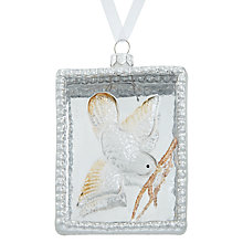 Buy John Lewis Enchantment Glass Rectangle Bird In Frame, Silver and Gold Online at johnlewis.com