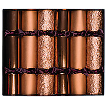 Buy Celebration Christmas Crackers, Pack of 6, Copper Online at johnlewis.com