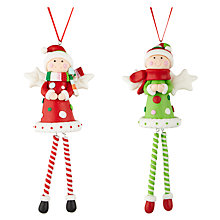 Buy John Lewis Claydough Angels Tree Decoration, Assorted Online at johnlewis.com