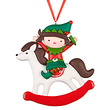 Buy John Lewis Claydough Rocking Horse Tree Decoration, Multi Online at johnlewis.com