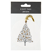 Buy John Lewis Enchantment Tree Gift Tags, Pack of 4, White Online at johnlewis.com