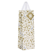 Buy John Lewis Enchantment Snowflake Gift Bag, Champagne Online at johnlewis.com