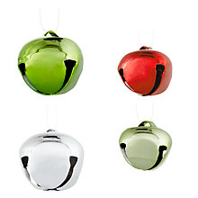Buy John Lewis Red, Green and Silver Jingle Bells, Tub of 50 Online at johnlewis.com
