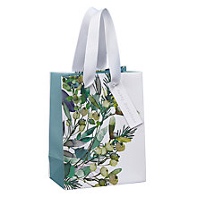 Buy John Lewis Snowdrift Watercolour Foliage Gift Bag, Mini Online at johnlewis.com