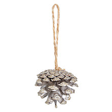 Buy John Lewis Midwinter Decorative Pine Cones, Set of 12, Champagne Gold Online at johnlewis.com