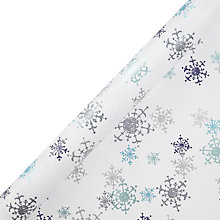 Buy John Lewis FSC Snowdrift Crystal Snowflake Gift Wrap, 3m, White and Blue Online at johnlewis.com