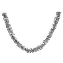 Buy John Lewis Chunky Tinsel, Silver Online at johnlewis.com