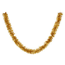 Buy John Lewis Chunky Tinsel, Gold Online at johnlewis.com