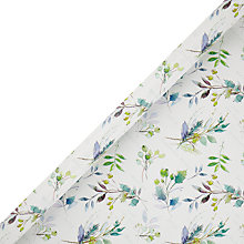 Buy John Lewis FSC Snowdrift Watercolour Foliage Gift Wrap, 3m Online at johnlewis.com