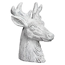 Buy John Lewis Snowdrift Deerhead Candle, White Online at johnlewis.com