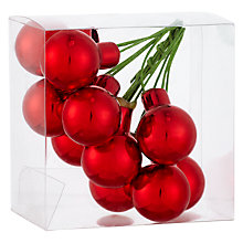 Buy John Lewis Mini Cluster Baubles, Red Online at johnlewis.com