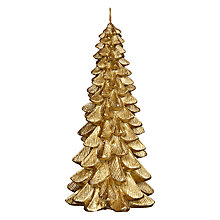 Buy John Lewis Boutique Christmas Tree Candle, Small, Gold Online at johnlewis.com