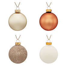 Buy John Lewis Enchantment Glass Baubles, Tub of 20, Multi Online at johnlewis.com
