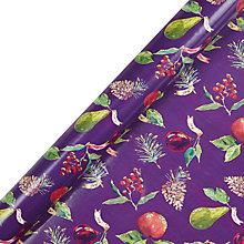 Buy John Lewis FSC-Certified Midwinter Fruits Gift Wrap, 3m, Purple Online at johnlewis.com