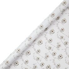 Buy John Lewis FSC Snowdrift Owls Gift Wrap, 3m, White Online at johnlewis.com