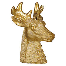 Buy John Lewis Boutique Deerhead Candle, Gold Online at johnlewis.com