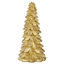 Buy John Lewis Boutique Christmas Tree Candle, Medium, Gold Online at johnlewis.com